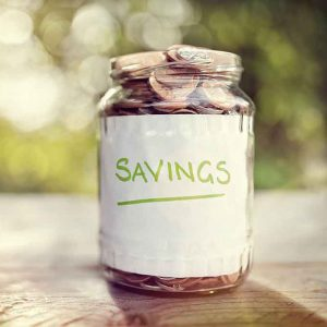 money in a savings jar